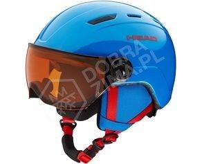 Juniorski kask narciarski HEAD Mojo Visor Blue sezon 2018/2019